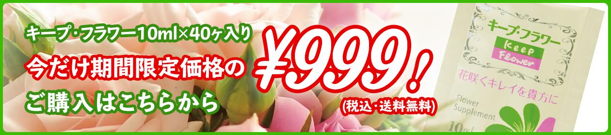 キープ・フラワー10ml x 40ケ入り 今だけ期間限定価格の¥999!(税込・送料無料) ご購入はこちらから